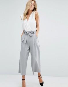 Серые брюки с завязывающимся поясом Boss Orange - Серый
