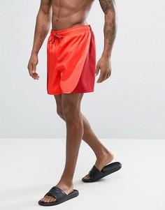 Красные шорты для плавания с большим логотипом Nike Breach - Красный