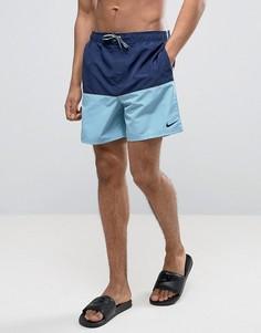 Синие шорты для плавания в стиле колор блок Nike NESS7427 440 - Синий