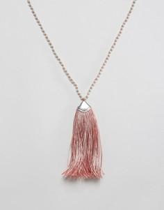Ожерелье с кисточками Nylon - Розовый
