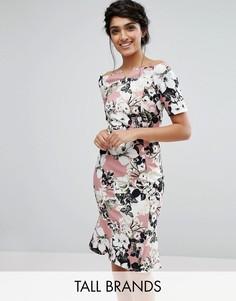 Платье-футляр с оборкой по краю Paper Dolls Tall - Мульти