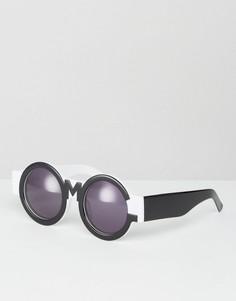 Черно-белые солнцезащитные очки House of Holland - Черный