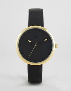Черные часы с золотистой отделкой ASOS CURVE - Черный