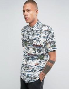 Рубашка классического кроя с гавайским принтом Bellfield - Белый