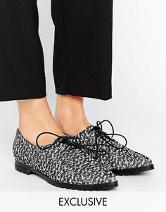 Туфли с острым носом на шнуровке The March - Мульти