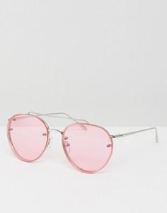 Солнцезащитные очки-авиаторы в стиле 90-х ASOS - Серебряный