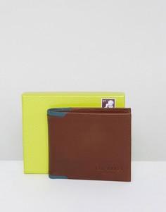 Кожаный кошелек двойного сложения Ted Baker - Рыжий