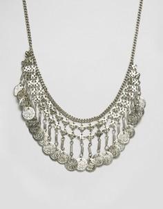 Ожерелье с монеткой Raga - Серебряный
