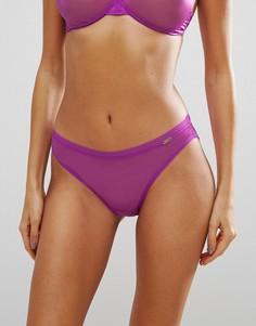 Прозрачные трусики Gossard Glossies - Фиолетовый