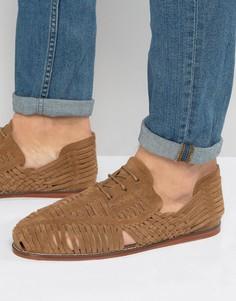 Светло-коричневые замшевые сандалии со шнуровкой ASOS - Рыжий