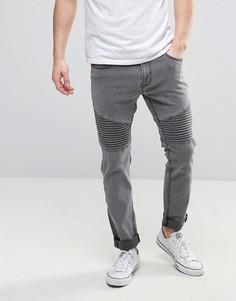 Узкие джинсы Troy Biker - Серый
