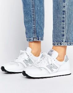 Белые кроссовки New Balance 373 - Белый