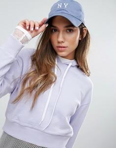 Мягкая кепка с винтажным логотипом NY New Era 9Forty - Синий