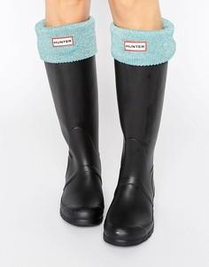Носки с блестками на манжетах Hunter - Синий
