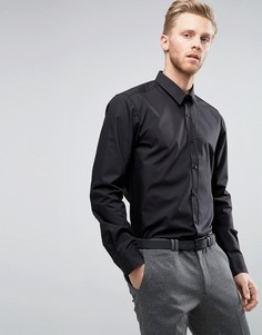 Черная узкая рубашка из поплина HUGO by Hugo Boss Elisha - Черный