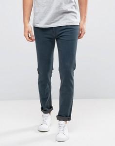 Выбеленные джинсы скинни Weekday Friday OD-11 - Синий