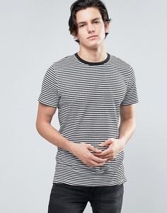 Длинная футболка в полоску Jack & Jones Core - Белый