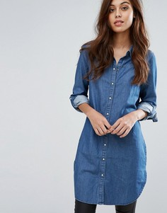 Длинная рубашка с рукавами 3/4 Vero Moda - Синий