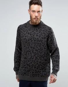 Джемпер с леопардовым узором Weekday Leopold - Серый