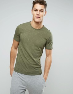 Меланжевая футболка Sisley - Зеленый