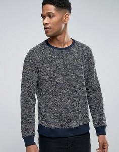 Свитшот с боковыми карманами Sisley - Темно-синий