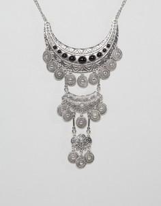 Броское ожерелье Ruby Rocks - Серебряный