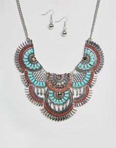 Ожерелье и серьги Ruby Rocks - Мульти