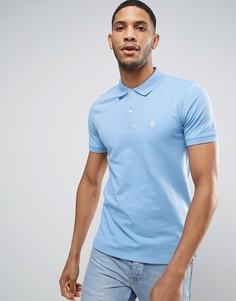 Узкая футболка-поло Selected Homme - Синий