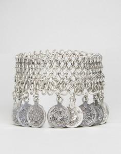 Броский браслет с монетками Ruby Rocks - Серебряный