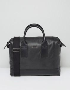 Черная кожаная сумка HUGO by Hugo Boss - Черный