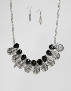 Ожерелье и серьги Ruby Rocks - Золотой