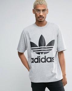 Свободная серая футболка adidas Originals AC BK7176 - Серый