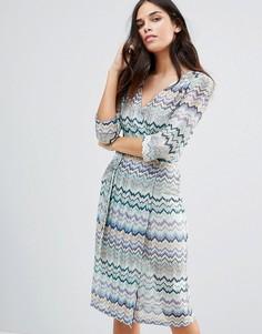 Платье в полоску с рукавами 3/4 Traffic People - Синий