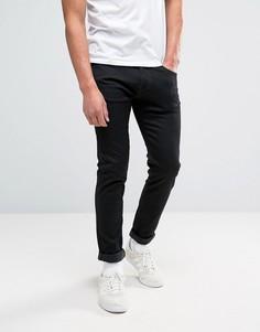 Черные эластичные джинсы слим с заниженным шаговым швом Edwin ED-85 - Черный