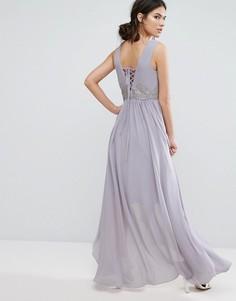 Платье со шнуровкой Y.A.S Andra - Фиолетовый