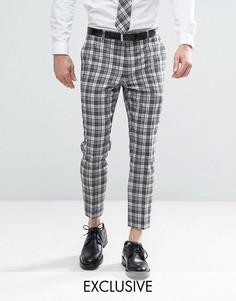 Суперузкие брюки в клетку Heart & Dagger - Серый
