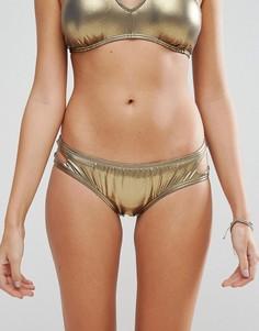 Трусики с вырезом капелькой Bikini Lab - Медный