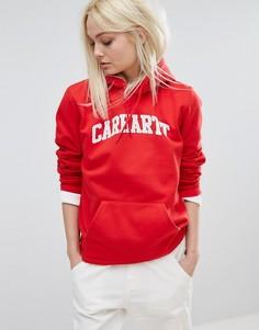 Свободный худи бойфренда с логотипом Carhartt WIP - Красный