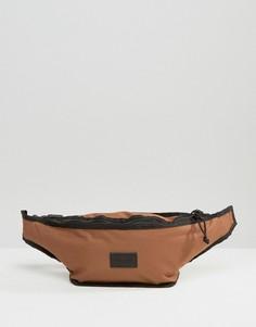 Большая сумка-кошелек на пояс табачного цвета ASOS - Рыжий