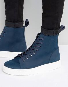 Ботинки с 8 парами люверсов Dr Martens Talib - Темно-синий
