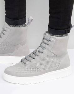 Высокие замшевые кроссовки Dr Martens Kamar - Серый