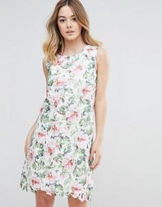 Кружевное платье с цветочным принтом Uttam Boutique - Мульти