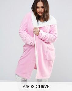 Халат с заячьими ушками ASOS CURVE - Розовый