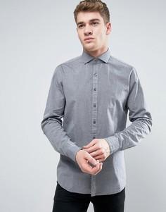 Фактурная строгая рубашка слим Calvin Klein - Серый