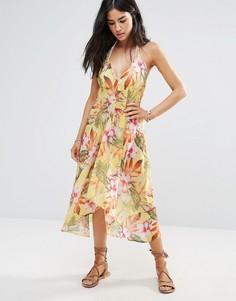 Пляжное платье с цветочным принтом Butterfly By Matthew Williamson - Мульти