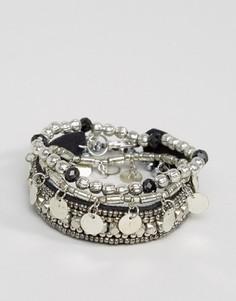 Набор браслетов Pieces Mia - Серебряный
