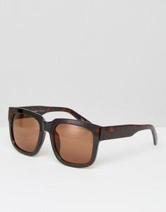 Солнцезащитные очки в квадратной оправе Pieces Melba - Коричневый