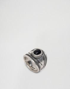 Массивное кольцо с камнем Pilgrim - Серебряный