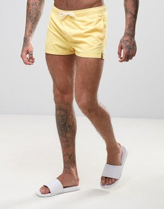 Желтые короткие шорты для плавания ASOS - Желтый