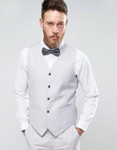Серый приталенный жилет Devils Advocate Wedding - Серый